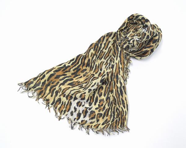 【中古】WACKO MARIA (ワコマリア) LEOPARD STOLE レオパード ストール Silk シルク cashmere カシミヤ カシミア
