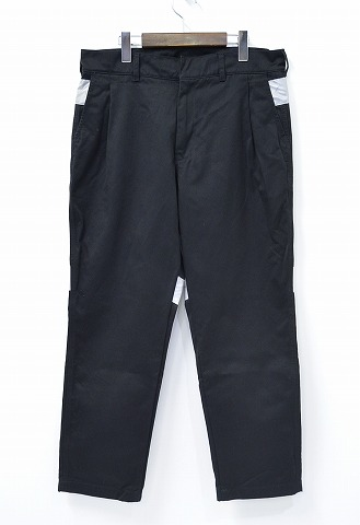 【中古】PLUS L by XLARGE (プラス・エル・バイ・エクストララージ) PL WORK PANTS ワークパンツ 16SS BLACK 34 ブラック X-LARGE YOPPI ヨッピー リフレクター