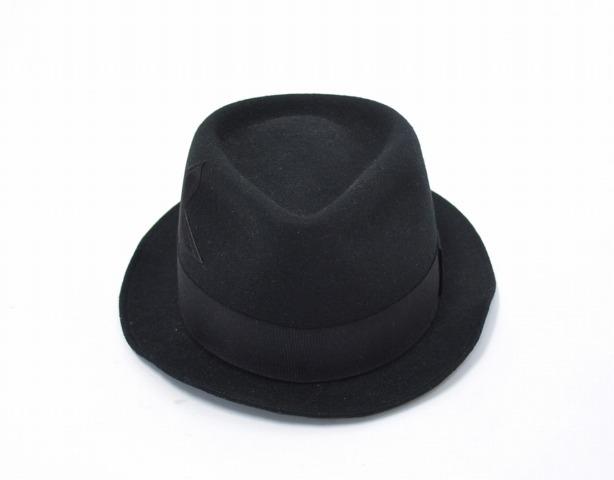 【中古】 M (エム) STAR PATCH FELT HAT スターパッチフェルトハット L BLACK 12AW