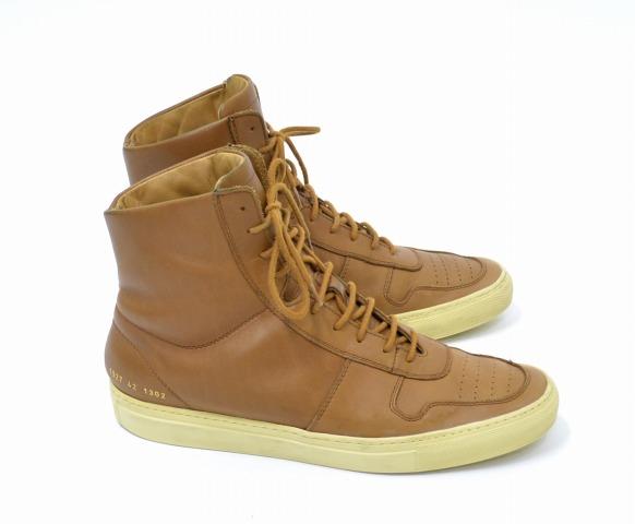 【中古】COMMON PROJECTS (コモンプロジェクツ) BBALL LEATHER HIGH TOP ハイカット レザースニーカー TAN 42 タン Vintage Basketball Sneakers ヴィンテージ バスケットボール プロジェクト