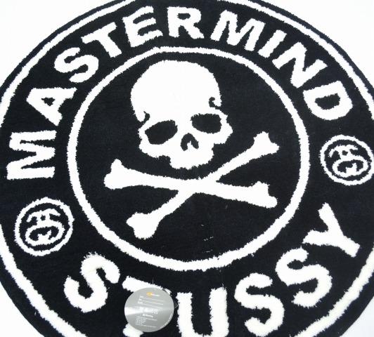 Stussy×mastermind JAPAN x Gallery 1950 (Stussy x mastermind Japan x Gallery 1950) Circle Skull Rag Mat Product by G1950 circlescarlag mat FREE BLACK