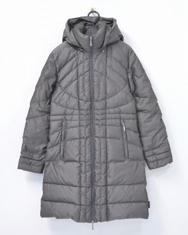 【中古】【レディース】 MONCLER (モンクレール) MONTANA モンタナ 00 CHARCOAL GREY フード付きダウンコート DOWN COAT JACKET