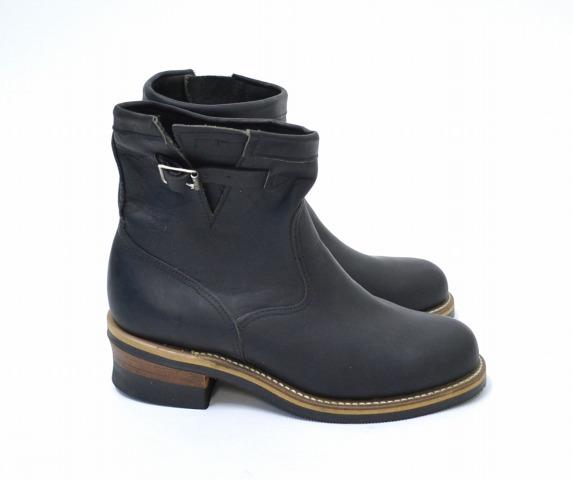 【中古】 Chippewa (チペワ) ショートエンジニアブーツ 8E BLACK 27871 シューズ 靴 黒タグ MADE IN USA