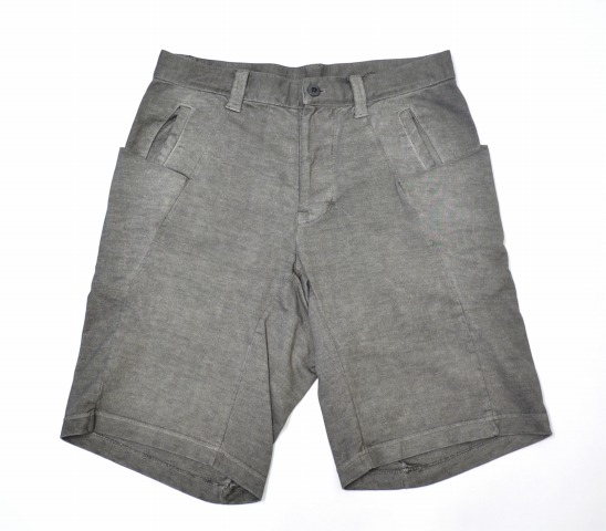 【新品】 Dhyana (ディアーナ) C/M soft jersey product overdyed 3D half pants コットンモダールソフトジャージ/3D 6Pハーフパンツ 3 SUMI 15SS D15SS-200 ショートパンツ ショーツ