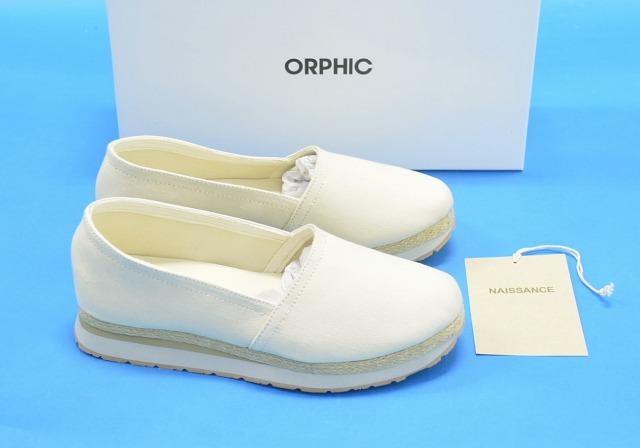【新品】 NAISSANCE×ORPHIC (ネサーンス×オルフィック) ESPADRILLE エスパドリーユ M(MEN 8) IVORY 16SS スニーカー シューズ 靴