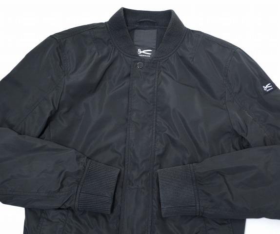 DENHAM(denhamu)MA-1 BOMBER JACKET波恩酒吧茄克S BLACK尼龙防寒夹克服