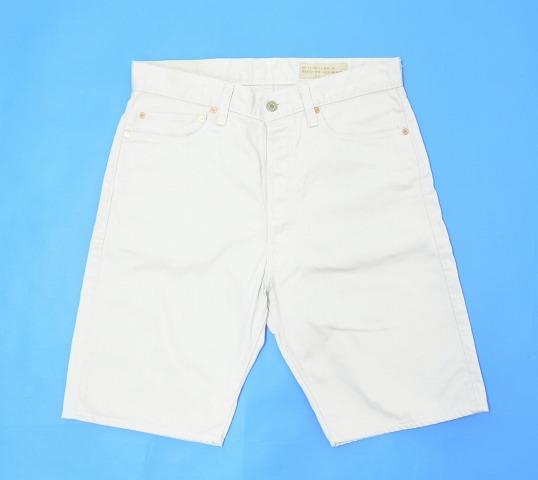 【中古】 BONCOURA (ボンクラ) Pique Shorts シンチバックピケショーツ 32 WHITE ショートパンツ ハーフパンツ