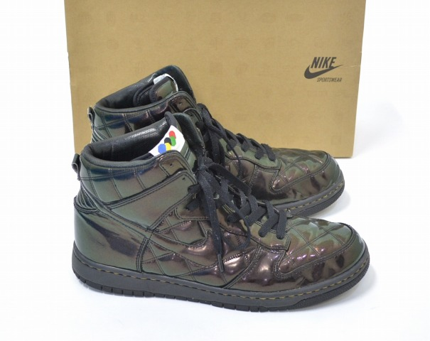 size 40 ca22f 89638 NIKE (Nike) DUNK HIGH SUPREME Olympic Quilted Patent dunk Hi Supreme  Beijing Olympics quilted patent BLACK US10.5 black sneakers shoes  basketball bash
