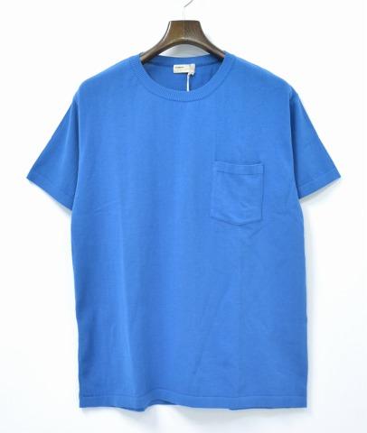 【新品同様】【訳あり】 NAISSANCE (ネサーンス) KNIT T-SHIRT ニットTシャツ L BLUE 16SS 16S-NSA-KN-08 【中古】