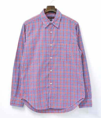 【中古】ENGINEERED GARMENTS INTERMEDIATES (エンジニアードガーメンツ インターメディエイツ) Red Buttonhole Shirt - Plaid レッドボタンホールシャツ プレイド RED M レッド CHECK チェック メディエイト メディエート
