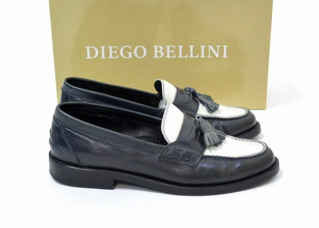 【中古】 .efilevol×Diego Bellini (エフィレボル×ディエゴベリーニ) Toricolor Loafer タッセルローファー 2(41) NAVY×WHITE 14SS ツートーン バイカラー