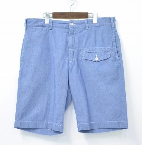 【中古】ENGINEERED GARMENTS (エンジニアードガーメンツ) Ghurka Short グルカショーツ Blue 34 ブルー Chambray シャンブレー SHORTS SHORT PANTS ショートパンツ HALF ハーフ Dungaree Cloth