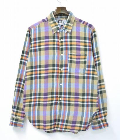 【中古】ENGINEERED GARMENTS (エンジニアードガーメンツ) Tab Collar Shirt - Plaid Flannel タブカラーシャツ プレイドフランネル Multi M マルチ CHECK チェック