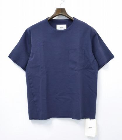 【新品】 salvy; (サヴィー) BALANCIRCULAR POCKET T-SHIRT バランサーキュラーポケットTシャツ 1 NAVY 半袖Tシャツ