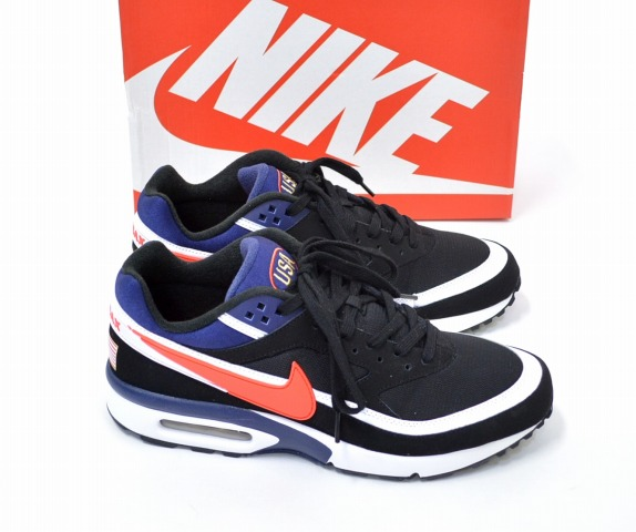NIKE (Nike) AIR MAX BW PREMIUM Air Max BW premium US11 29 cm BLACK×CRIMSON-MIDNIGHT  NAVY 819523-064 2016 Atlanta Olympics reprint model Olympic color ... 4d7f4f716