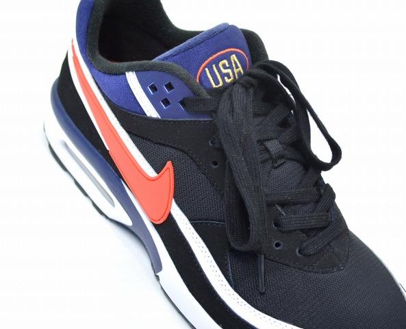 NIKE (Nike) AIR MAX BW PREMIUM Air Max BW premium US11 29 cm BLACK×CRIMSON MIDNIGHT NAVY 819523 064 2016 Atlanta Olympics reprint model Olympic color