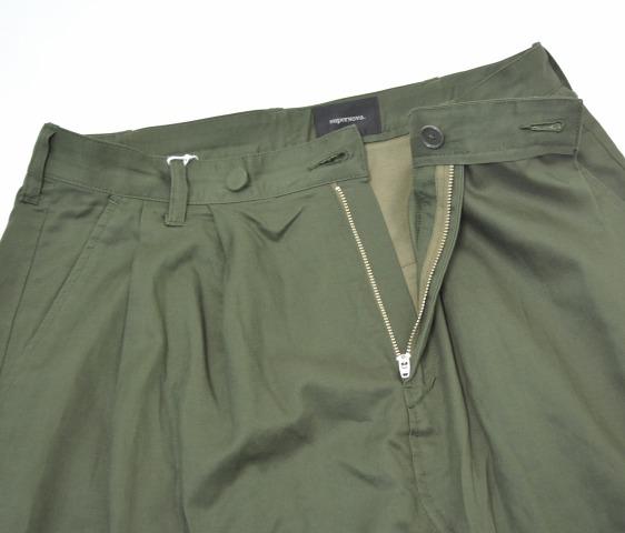 superNova. (超新星)把Wrap Trouser-Tencel Cotton Sateen保鲜纸裤子M OLIVE 16SS围起来裤子泰国裤子