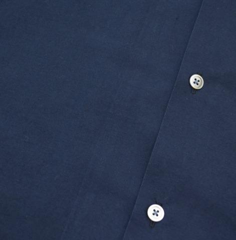 AURALEE (口头) 或边缘天气布开放领半袖衬衫 servichweather crossopencalakhafslieb t 恤 5 海军 16SS A6SS03WC