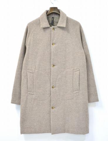 【中古】RYU (リュー) flightly coat コート BEIGE 4 ベージュ SOUTIEN COLLAR COAT ウールステンカラーコート 中綿入り ボンディング加工