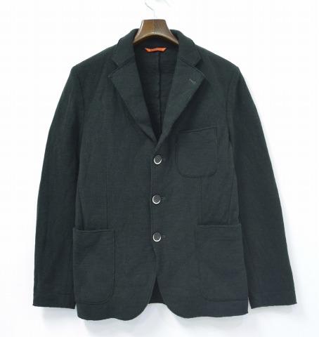 【中古】 BARENA (バレナ) ニット3Bテーラードジャケット 48 GREEN 3ボタンジャケット