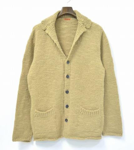【中古】 BARENA (バレナ) Tailor Collar Knit Cardigan テーラーカラーアクリルニットカーディガン L CAMEL ニットジャケット