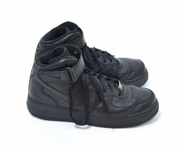 timeless design 79102 bca2f NIKE (Nike) AIR FORCE 1 MID ' 07 Airforce one mid BLACK / BLACK US9 27.0 cm  Black / Black 315123-001 SNEAKER sneakers BASKET SHOES basketball shoes ...
