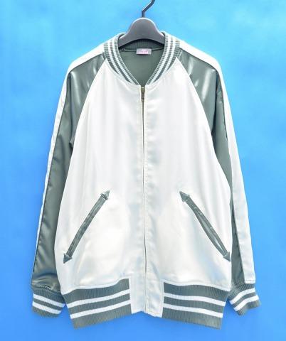 【中古】 X-GIRL (エックスガール) SATIN SOUVENIR JACKET サテンスーベニアジャケット 1 WHITE 16SS スカジャン