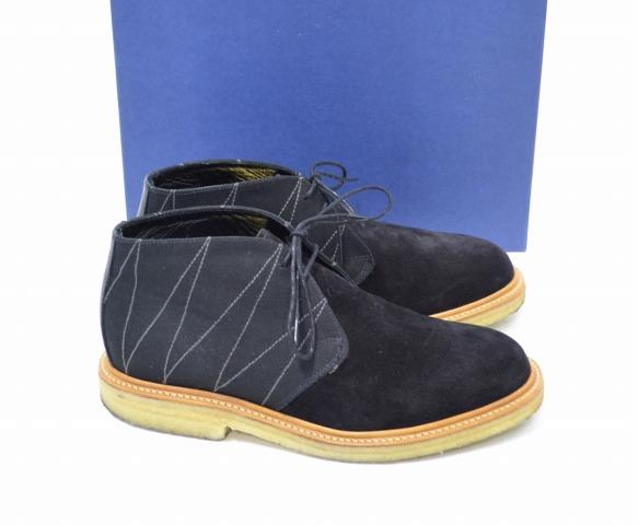 【中古】ACAPULCO GOLD (アカプルコゴールド) × MARK McNAIRY (マークマクナイリー) Double S.O.B Chukka Boots チャッカブーツ BLACK US8 26.0cm ブラック SUEDE スエード スウェード