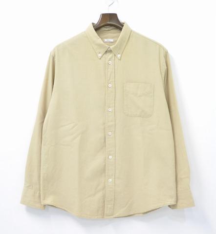 【中古】visvim (ビズビム) ALBACORE SHIRT L/S IT 切り替え ボタンダウンシャツ BEIGE 2 ベージュ BUTTON DOWN SHIRTS B.D ヴィズヴィム 和柄 花柄