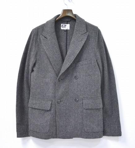 【中古】ENGINEERED GARMENTS (エンジニアードガーメンツ) Newport Jacket - Wool Herringbone ニューポートジャケット ウールヘリンボーン GREY M グレー HB Tweed ツイード Double Breasted ダブルブレスト Tailored テーラード
