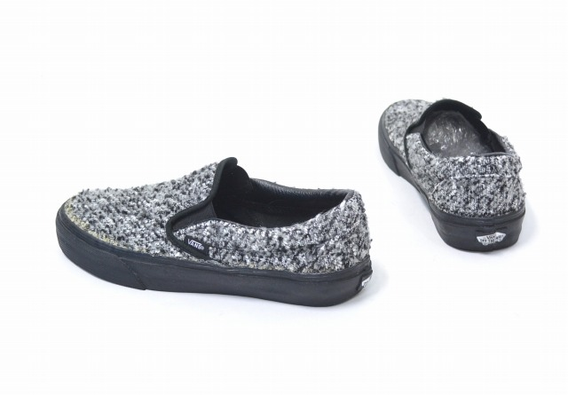 5cc6cdec3d8e13 OPENING CEREMONY (opening ceremony) X VANS (vans) CLASSIC SLIP-ON classical  music slip-ons BLACK GREY US8 26.0cm black   gray WOOL PACK woolpack KNIT  knit ...