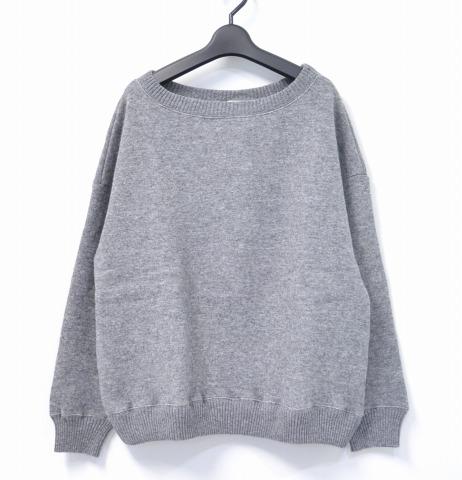 【新品】【レディース】 Olta design garments (オルタデザインガーメンツ) KNIT SWEAT ニットスウェット 02 GREY 14AW