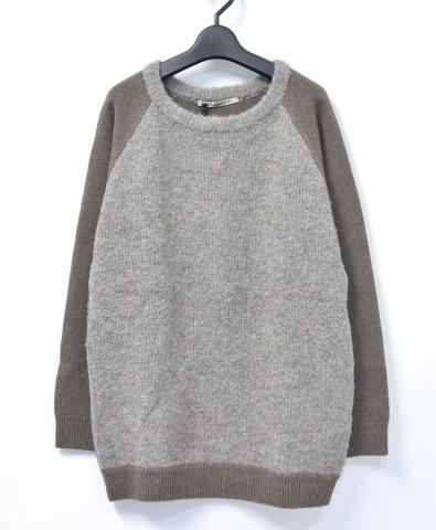 【新品】【レディース】 Olta design garments (オルタデザインガーメンツ) RAGLAN KNIT ラグランニット 09 KHAKI 切り替え セーター