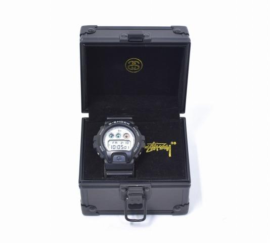 【中古】 STUSSY (ステューシー) × CASIO (カシオ) G-SHOCK DW-6900 35th Anniversary Gショック 35周年記念限定 BLACK ブラック 腕時計 WATCH ウォッチ ジーショック Limited