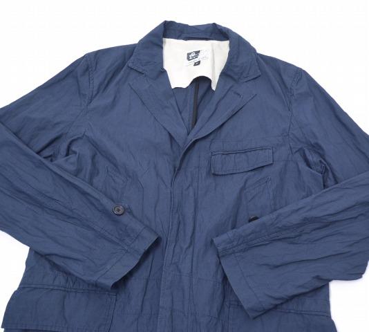 ENGINEERED GARMENTS(enjiniadogamentsu)Chesterfield Coat-Metallic Poplin切斯特菲尔德大衣金属府绸NAVY M深蓝