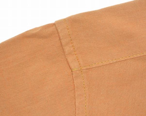 ENGINEERED GARMENTS(enjiniadogamentsu)Round Collar Shirt-Iridescent Chambray raundokarashatsuiridisentoshambure Orange M橙子Shirts比翼圆领子