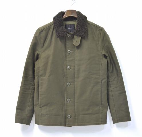 【中古】 Magine (マージン) SULFUR BOA N-1 JKT 硫化染め衿ボアN-1ジャケット 44 OLIVE ミリタリージャケット