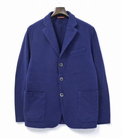 【中古】 BARENA (バレナ) Torceo Mezo Jacket 3ボタンウールニットジャケット 48 NAVY 3B WOOL KNIT JACKET