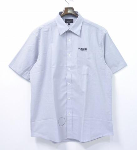 【新品同様】【訳あり】 QUISLING (キースリング) WORK SHIRT ワークシャツ XL GREY 17SS 半袖 【中古】