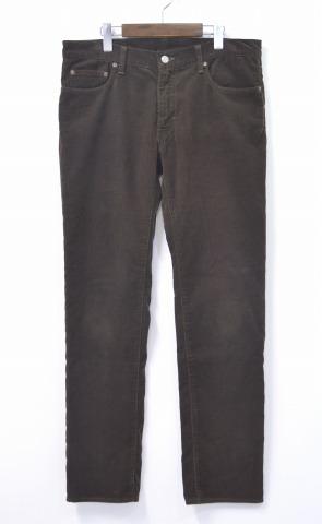 【中古】 WACKO MARIA (ワコマリア) REGULAR STRAIGHT CORDUROY PANTS レギュラーストレートコーデュロイパンツ 16AW BROWN XL ブラウン 5ポケット