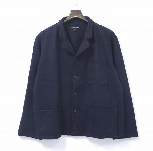 【中古】 ENGINEERED GARMENTS (エンジニアードガーメンツ) Knit Jacket - Cotton/Wool Jersey ニットジャケット コットン/ウールジャージー DARK NAVY M ダークネイビー TAILORED テーラード