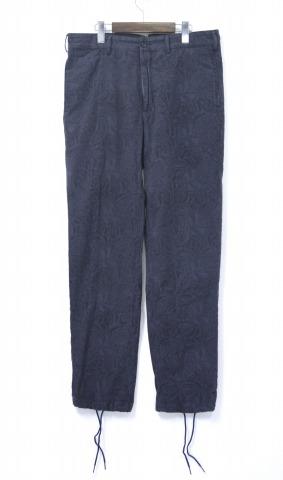 【中古】 ENGINEERED GARMENTS (エンジニアードガーメンツ) Cinch Pant - Paisley シンチ パンツ ペイズリー NAVY 34 ネイビー シンチバック バックル Trousers トラウザー Pants