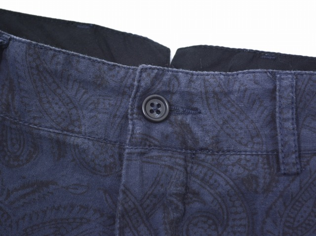 ENGINEERED GARMENTS(enjiniadogamentsu)Cinch Pant-Paisley shinchipantsupeizuri NAVY 34 neibishinchibakkubakkuru Trousers裤子Pants