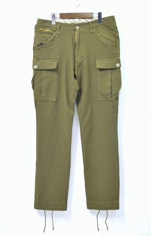 【新品】 ELATE (イレイト) CARGO PANTS カーゴパンツ OLIVE 6ポケットパンツ 1 イレート