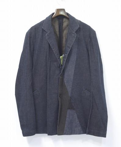 【中古】CASEY VIDALENC(ケイシーヴィダレンク) パッチワークジャケット 48 SABLE JACKET