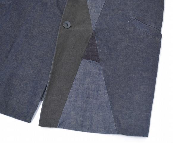 CASEY VIDALENC ( ケイシーヴィダレンク ) patchwork jacket 48 BLACK