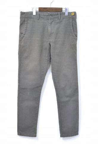 【中古】 BROWN by 2-tacs (ブラウン バイ ツータックス) Pique Tapered Pants ピケ テーパードパンツ Charcoal L チャコール