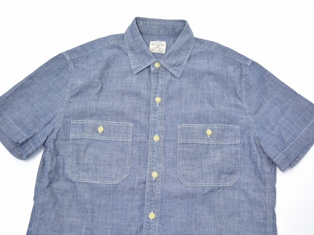 6df10e74157 used select shop Greed  Vintage detail chambray short sleeves shirt Chambray  Utility Shirts US S S WORK SHIRT work shirt SMALL BLUE with the J.CREW (J.  ...