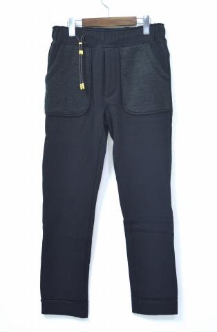 【新品】 CRUCE&Co. (クルーチェ アンド コー) C/F Jersey Pants ジャージーパンツ S BLACK イージーパンツ スウェットパンツ