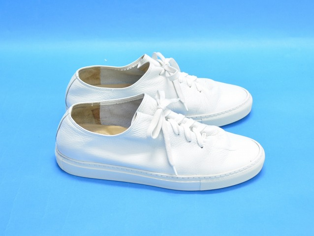 quality design 93ed0 424a5 SOLOVIERE (ソロヴィエール) leather sneaker leather sneakers 43 28cm WHITE shoes  shoes